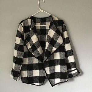 Jackets & Blazers - Plaid Open Front Jacket
